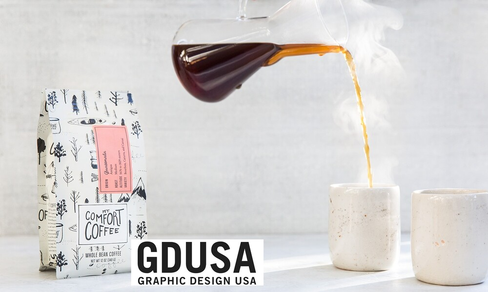 Mt comfort coffee bag packaging design gdusa award winner 2x