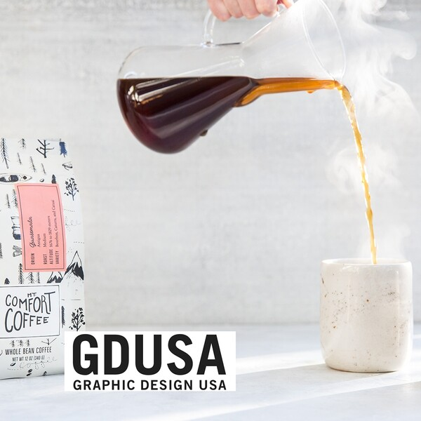 Mt comfort coffee bag packaging design gdusa award winner 2x