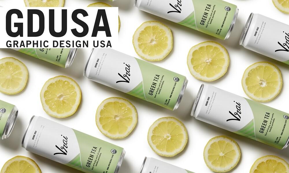 Vrai vodka cocktail gdusa american graphic design packaging design award winner 2x