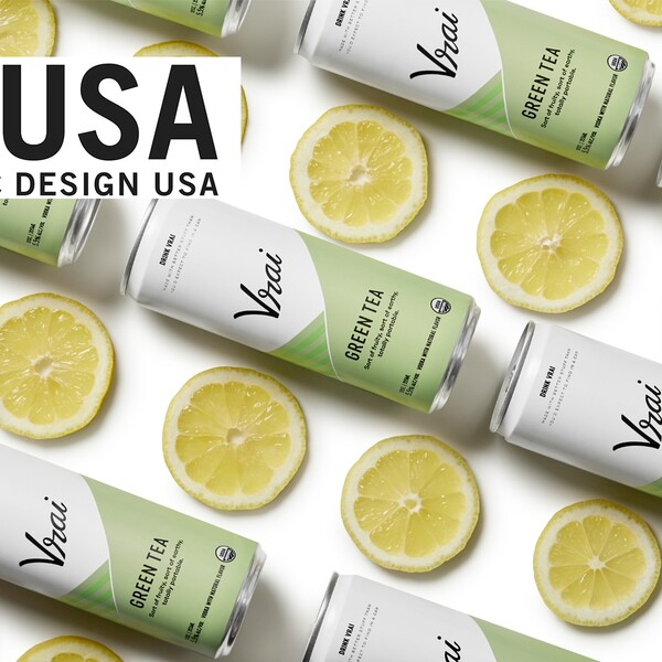 Vrai vodka cocktail gdusa american graphic design packaging design award winner 2x