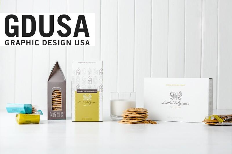 Little belgians cookies box gdusa american graphic design packaging design award winner 2x