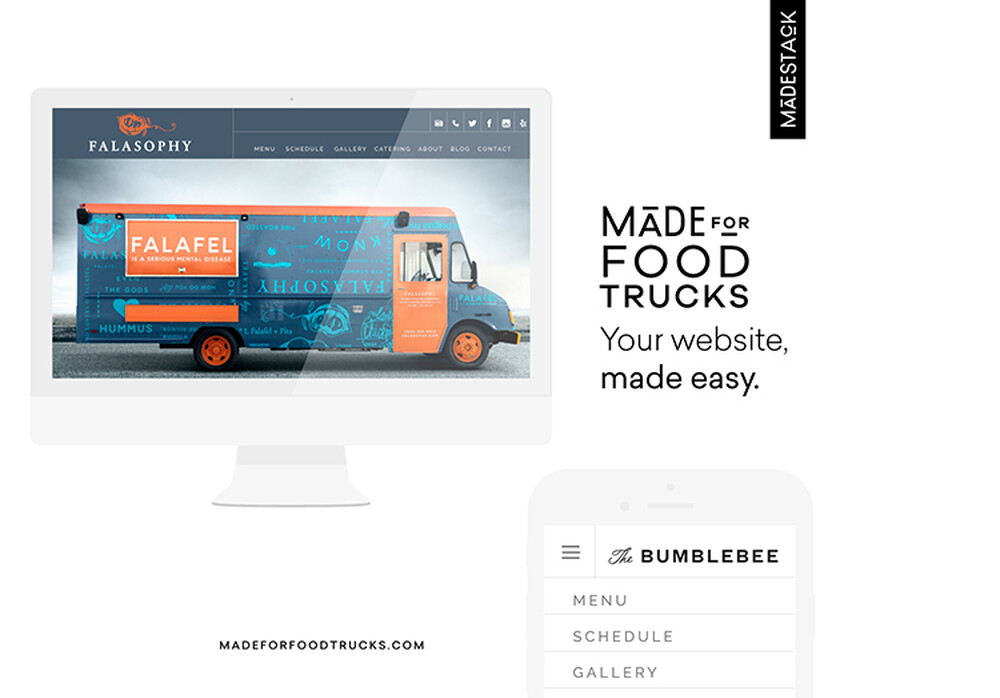 Made for food truck website template