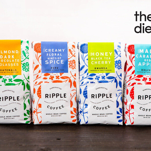 Ripple coffee bag package design dieline 2x