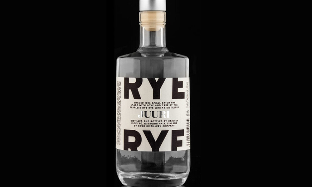 Kyro rye whiskey packaging design