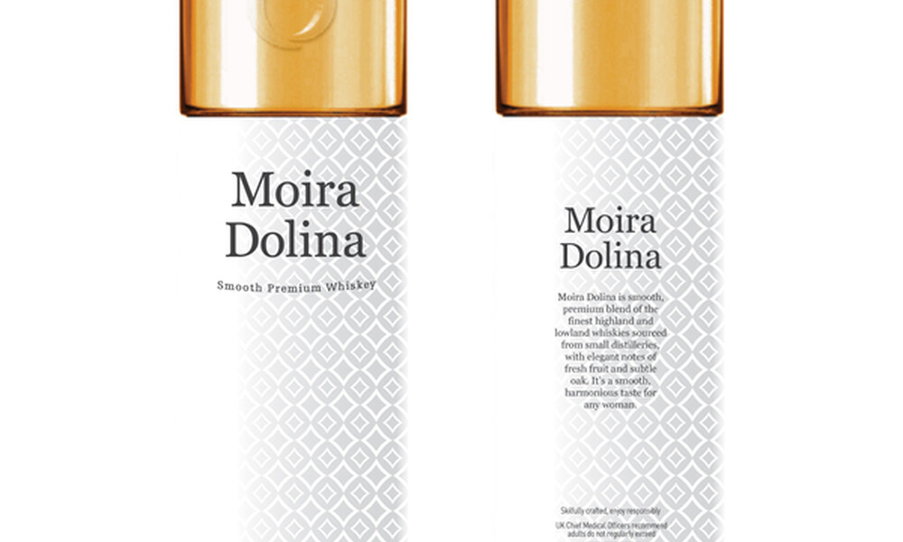 Moira dolina whiskey package design