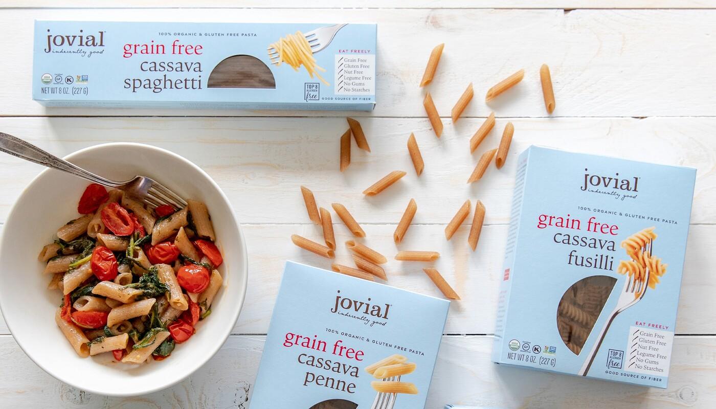 Jovial foods pasta packaging cassava line extension2