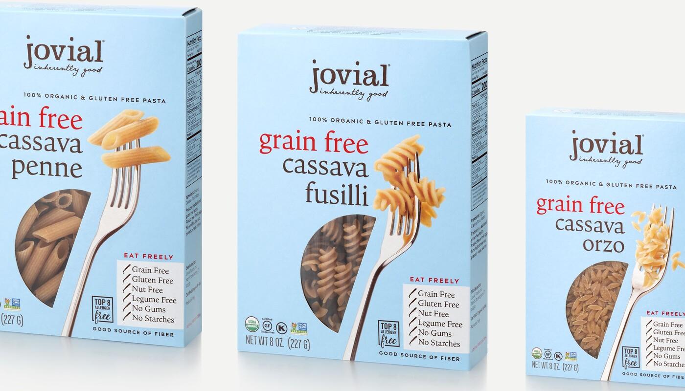 Jovial foods pasta packaging cassava line extension5