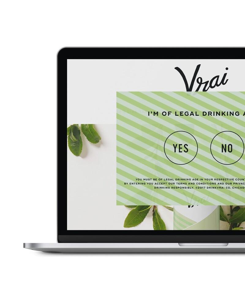 Vrai vodka cocktails website design development craft cms