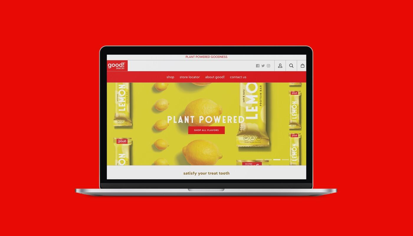 Good snacks protein bar brand identity packaging design website 19