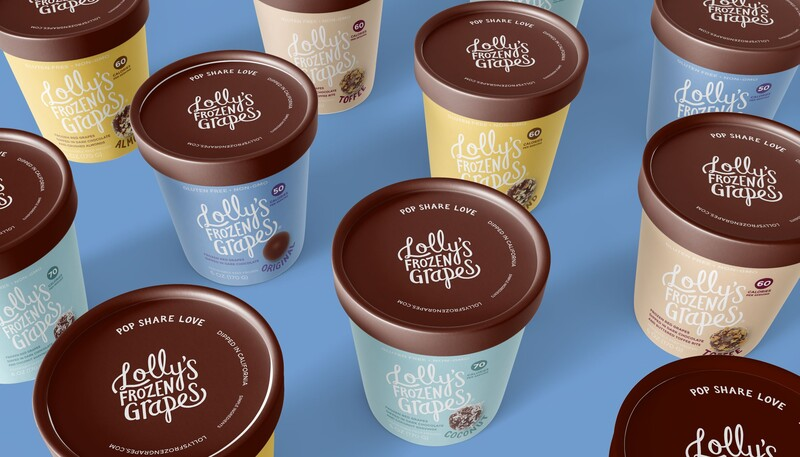 Lollys frozen grapes branding packaging design6