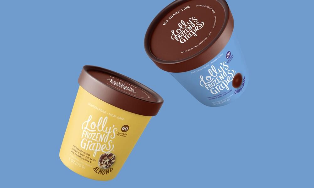 Lollys frozen grapes branding packaging design4