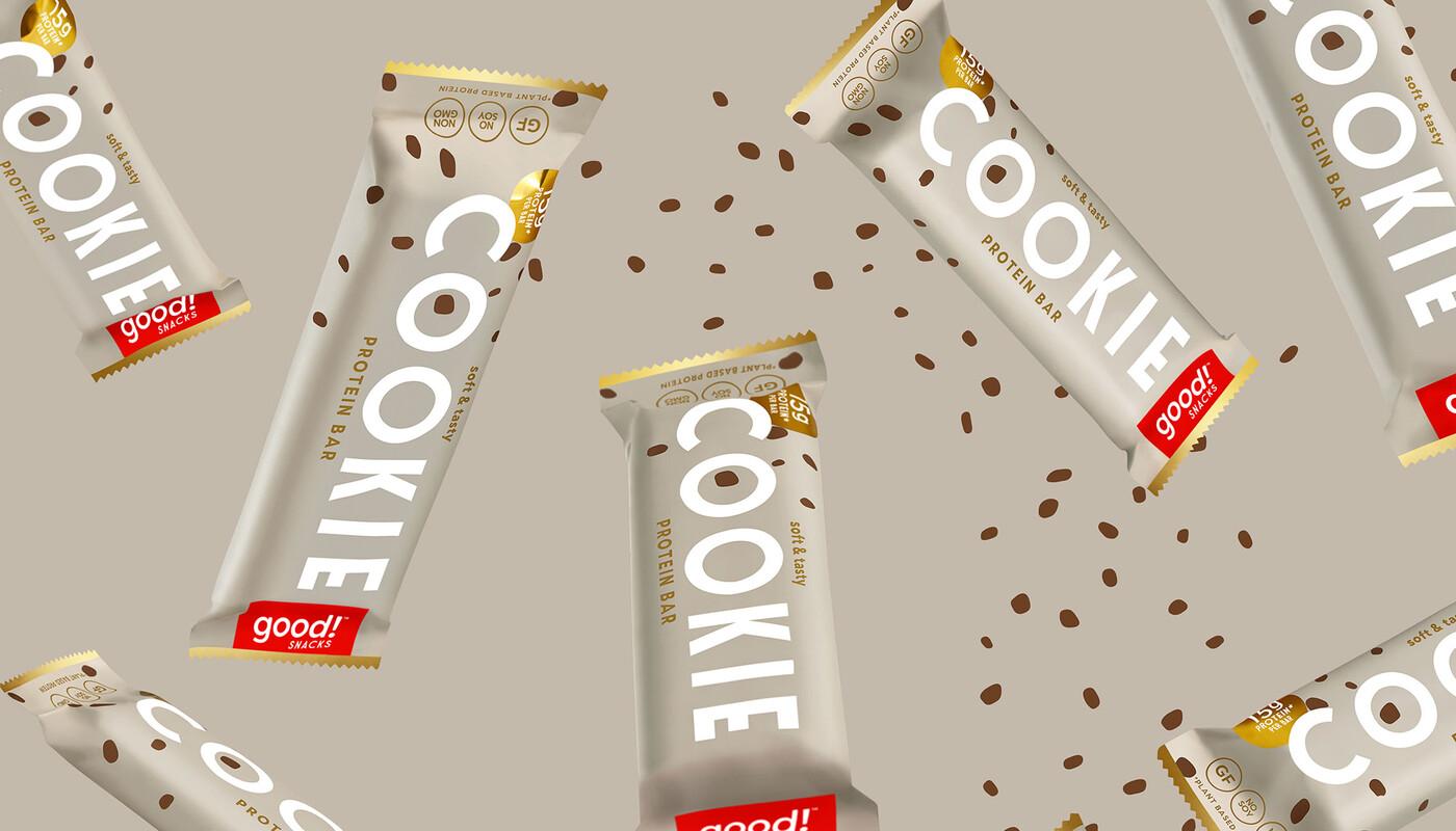 Good snacks protein bar brand identity packaging design work fw
