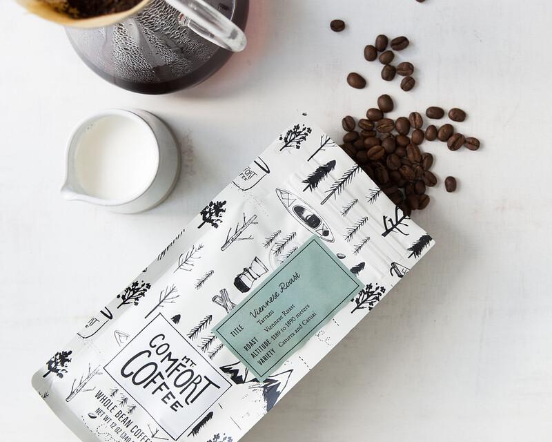 Mt comfort coffee branding packaging design work img