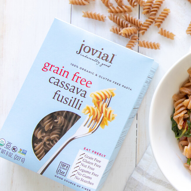 Jovial foods pasta packaging cassava line extension featimg