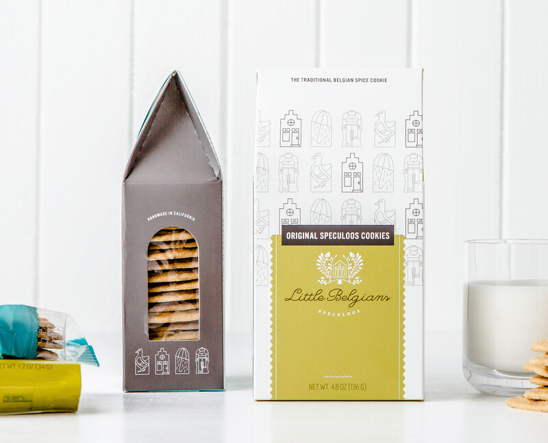 Little belgians cookie packaging design brand identity featimg