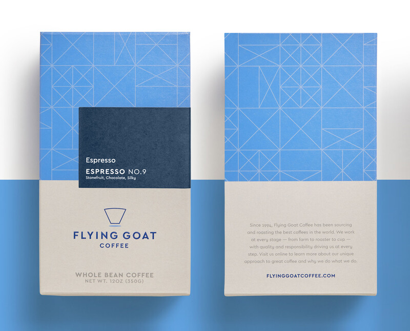 Flying goat coffee packaging design beverage brand identity featimg