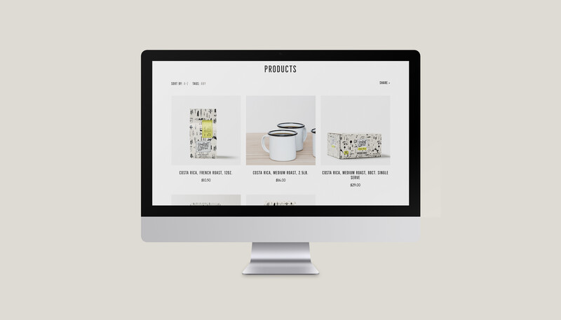 Mt comfort coffee branding website design shopify