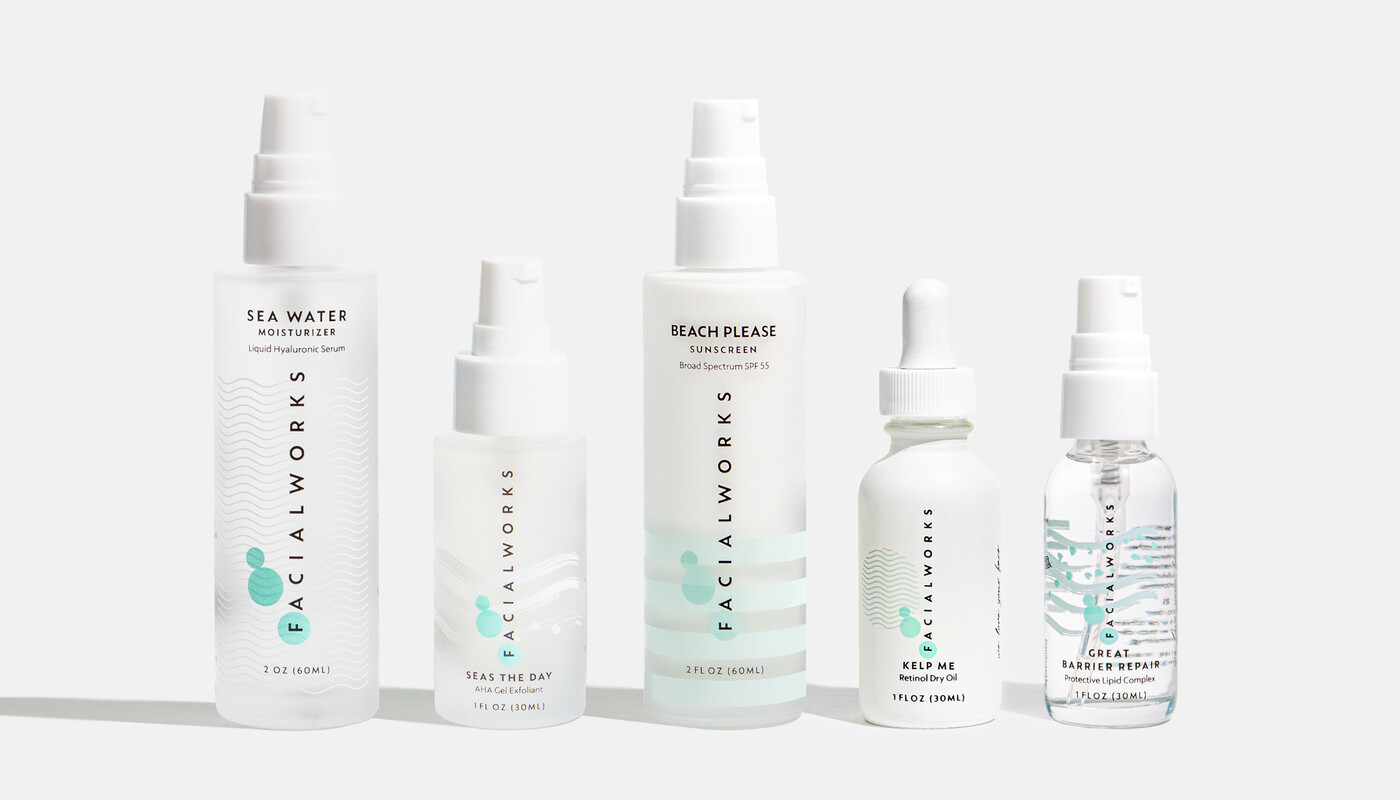 Facialworks skincare packaging design brand identity beauty9