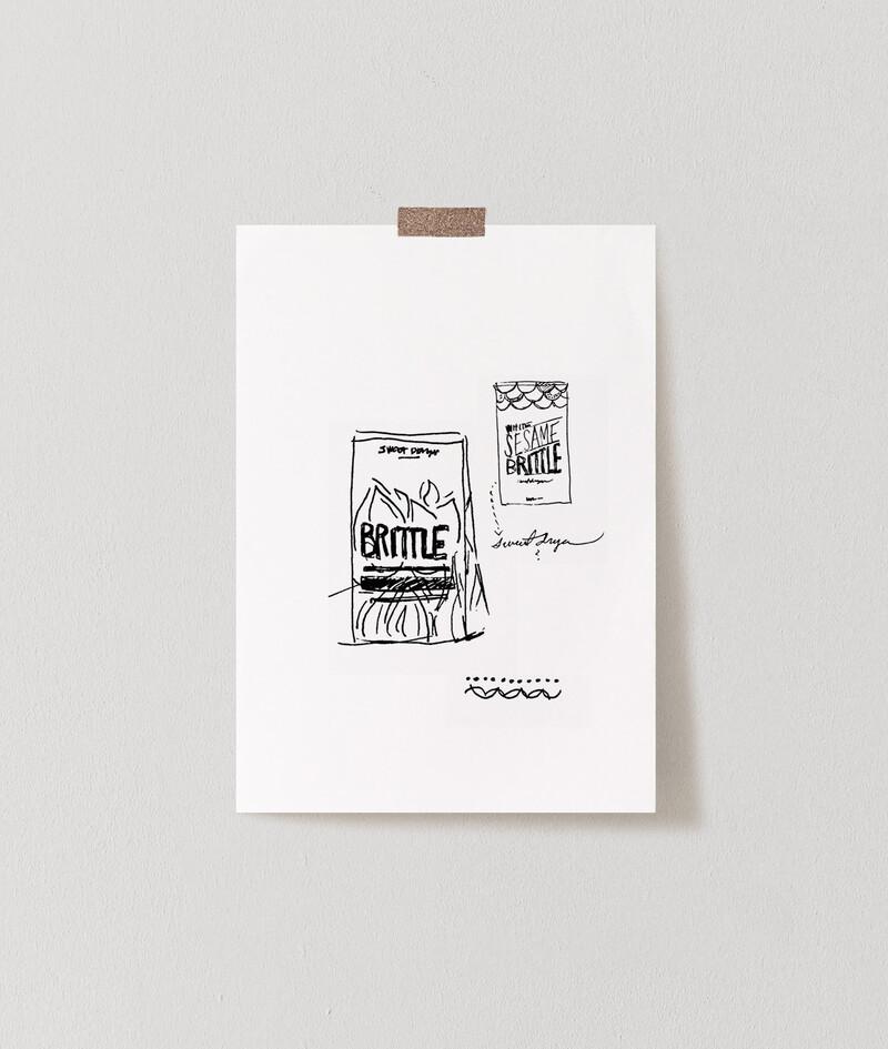 Sweet dragon candy brittle food packaging design branding sketch serv img