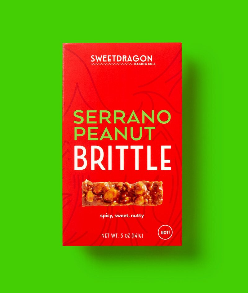Sweet dragon candy brittle food packaging design branding serv img