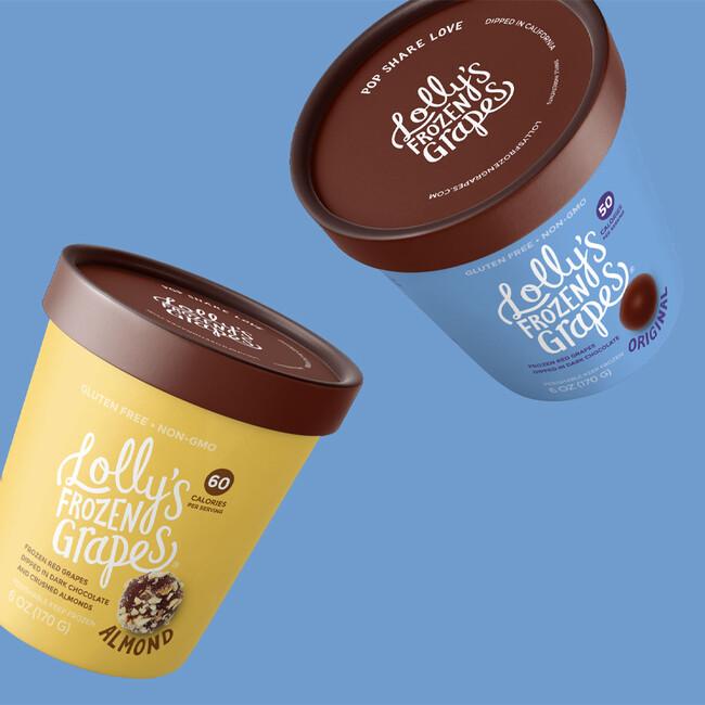 Lollys frozen grapes branding packaging design4 sq crop