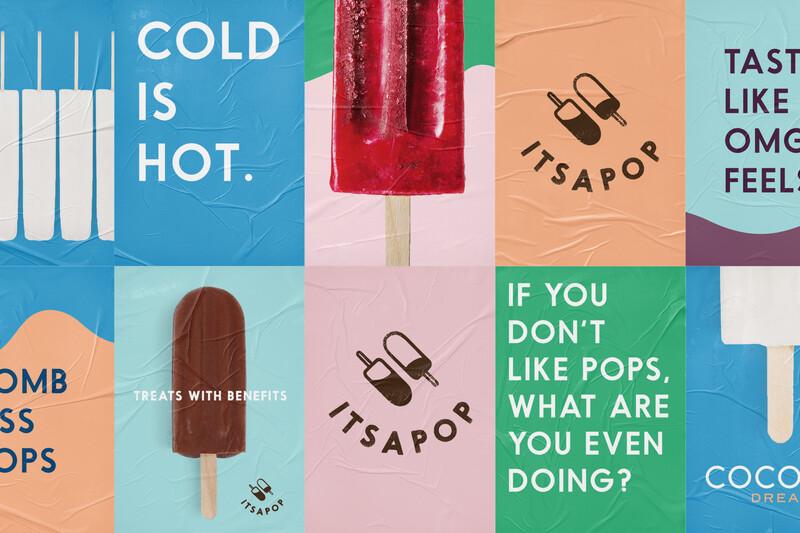 Itsapop frozen pops branding identity packaging design1