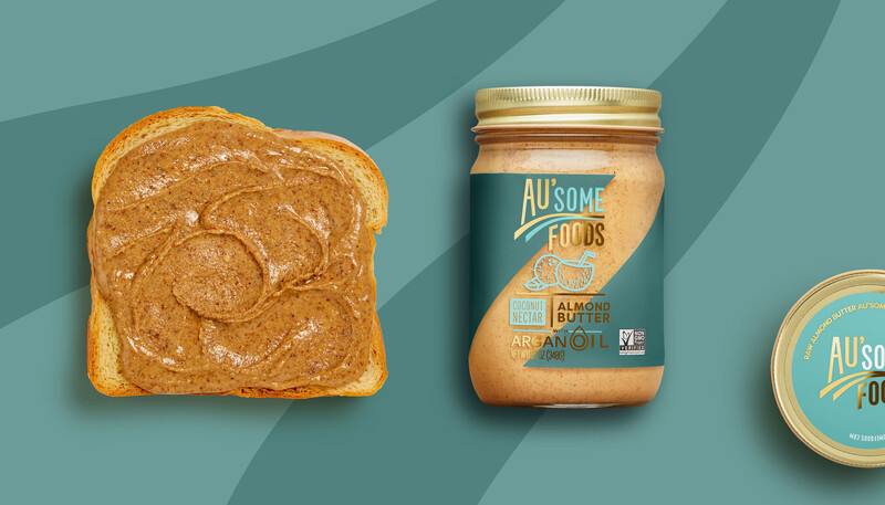 Ausome foods almond butter packaging design1