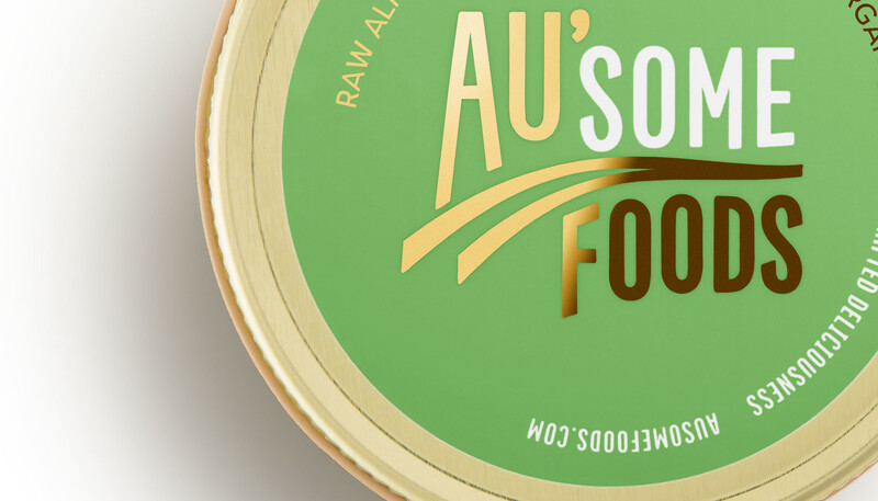 Ausome foods almond butter packaging design2