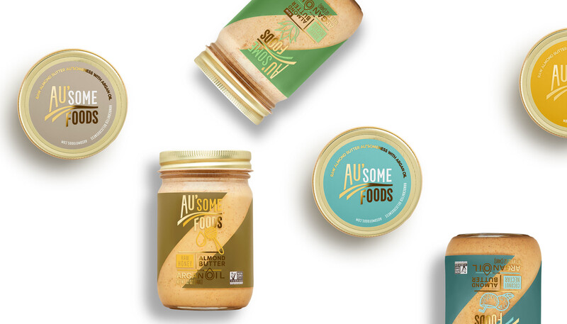 Ausome foods almond butter packaging design4