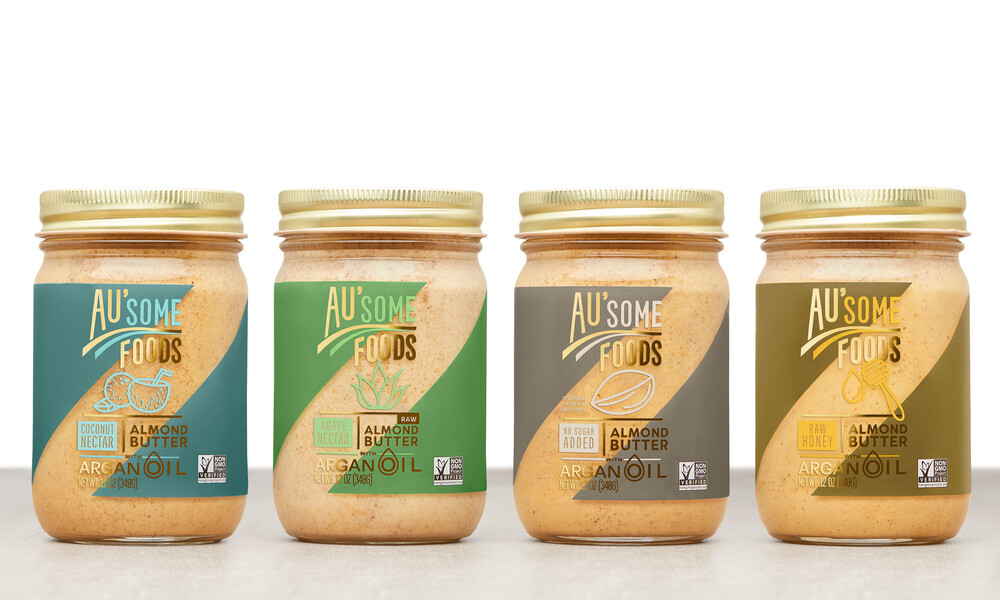 Ausome foods almond butter packaging design5