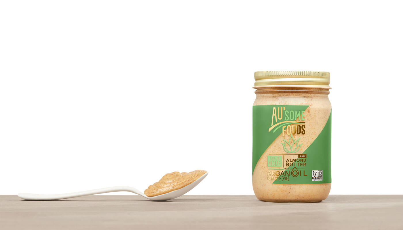 Ausome foods almond butter packaging design9