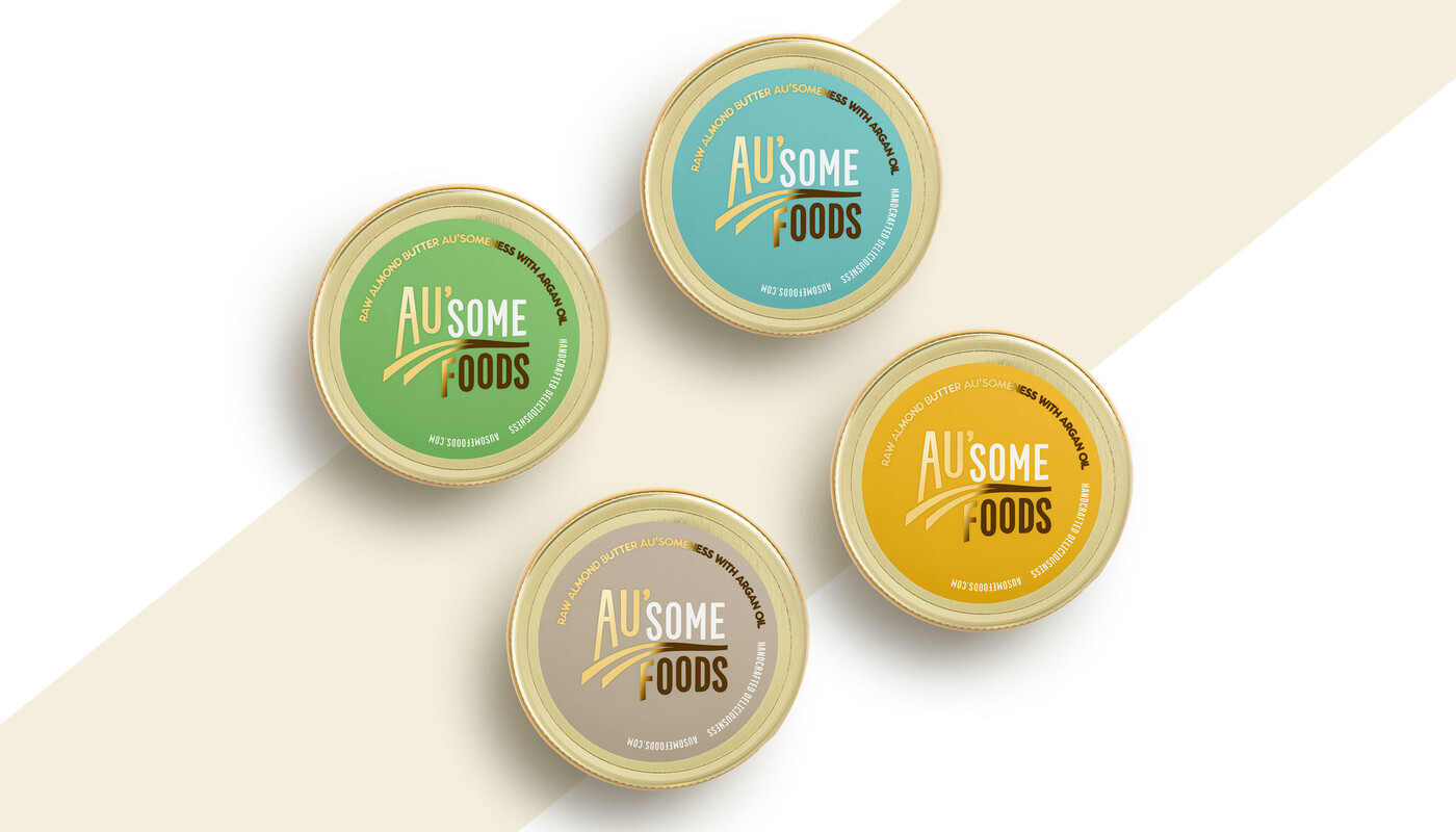 Ausome foods almond butter packaging design10