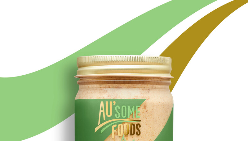 Ausome foods almond butter packaging design11
