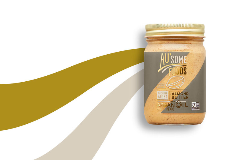 Ausome foods almond butter packaging design14