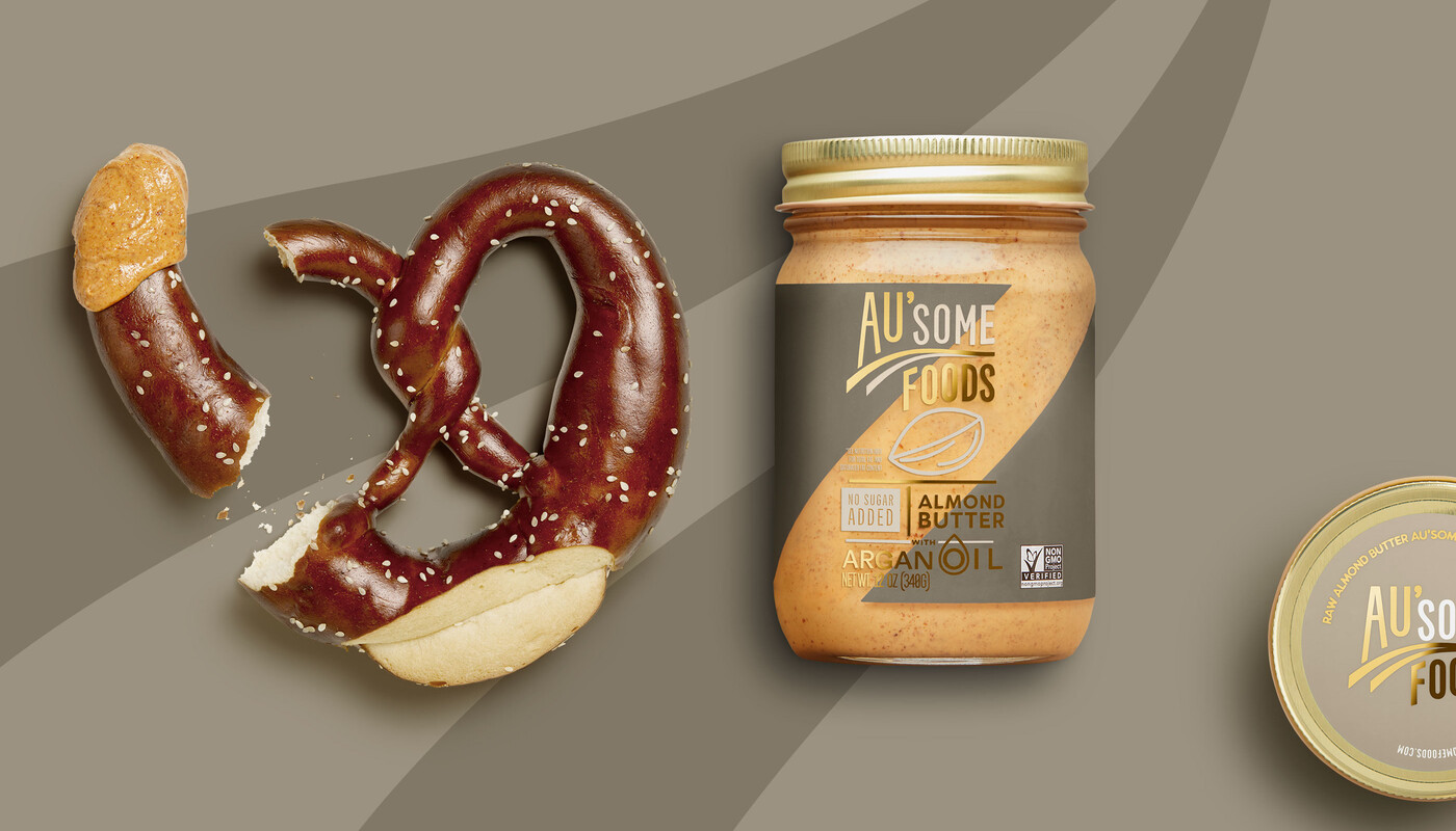 Ausome foods almond butter packaging design16