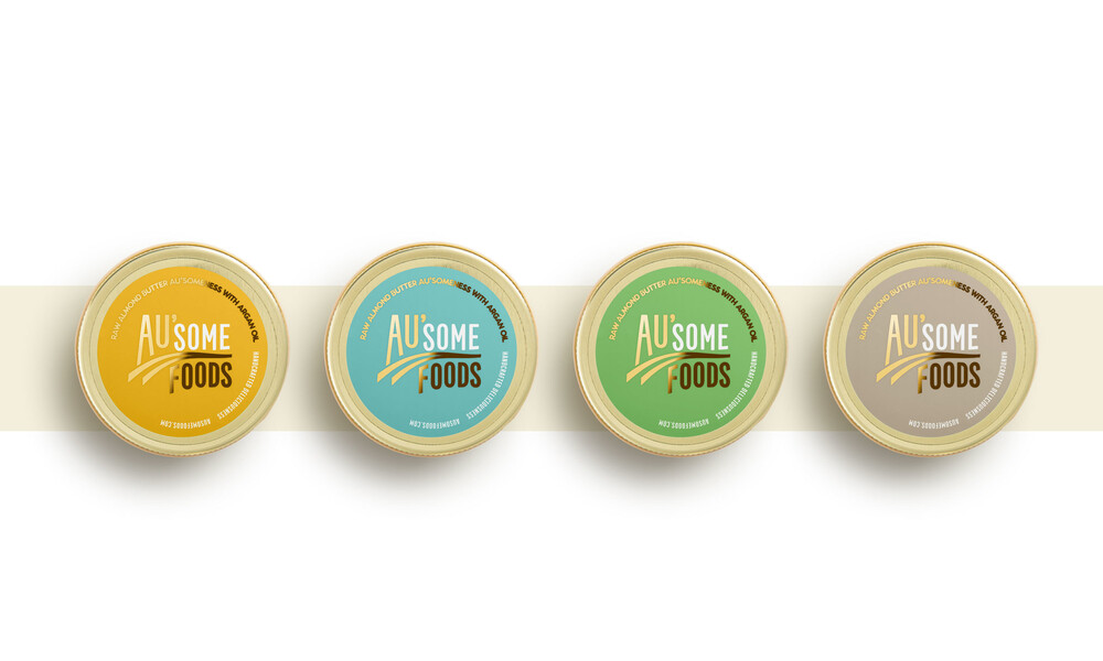 Ausome foods almond butter packaging design17