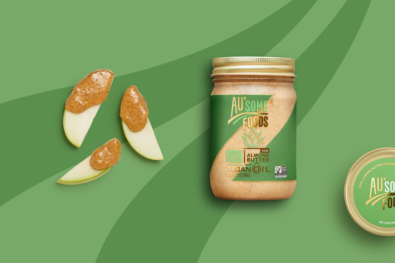 Ausome foods almond butter packaging design18