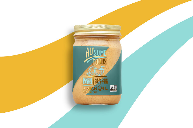Ausome foods almond butter packaging design19
