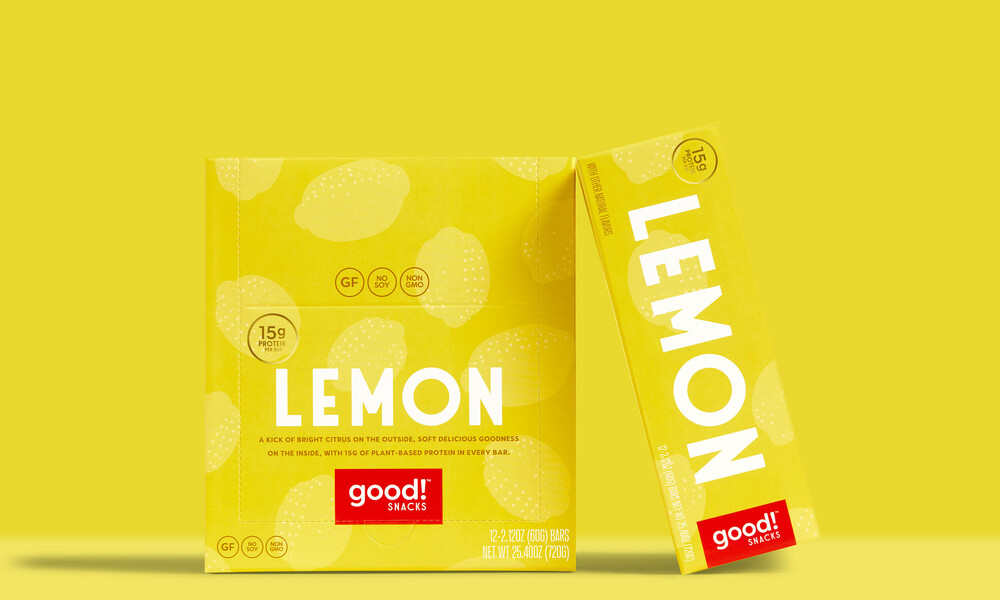 Good snacks protein bar brand identity packaging design4