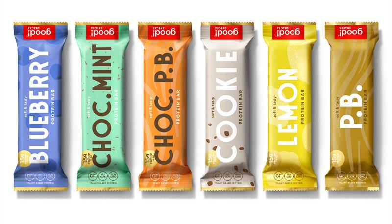 Good snacks protein bar brand identity packaging design13