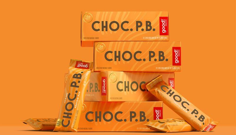 Good snacks protein bar brand identity packaging design16