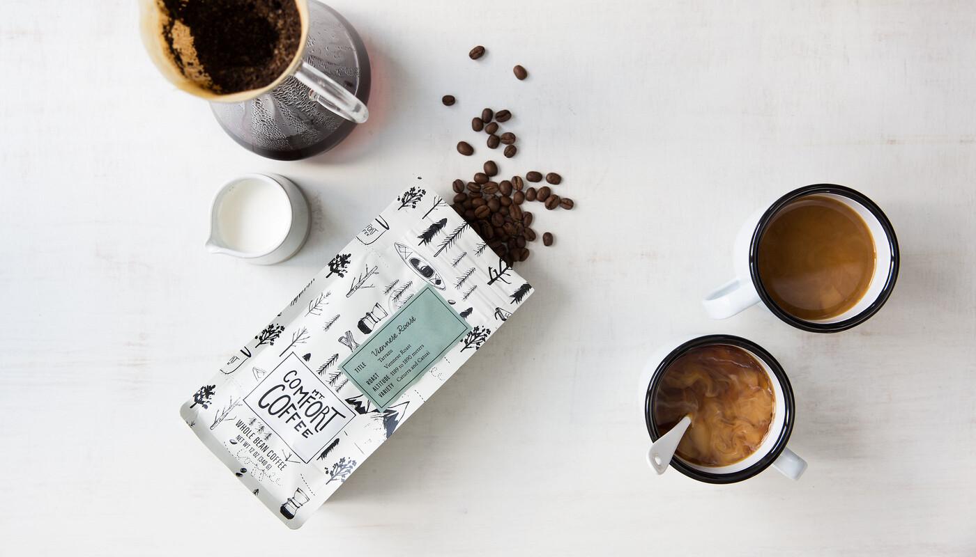 Mt comfort coffee branding packaging design1