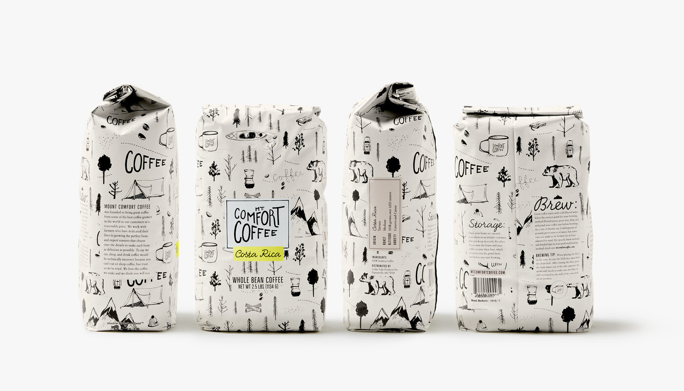 Mt comfort coffee branding packaging design2