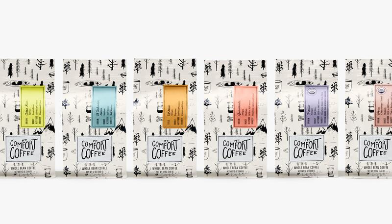 Mt comfort coffee branding packaging design15