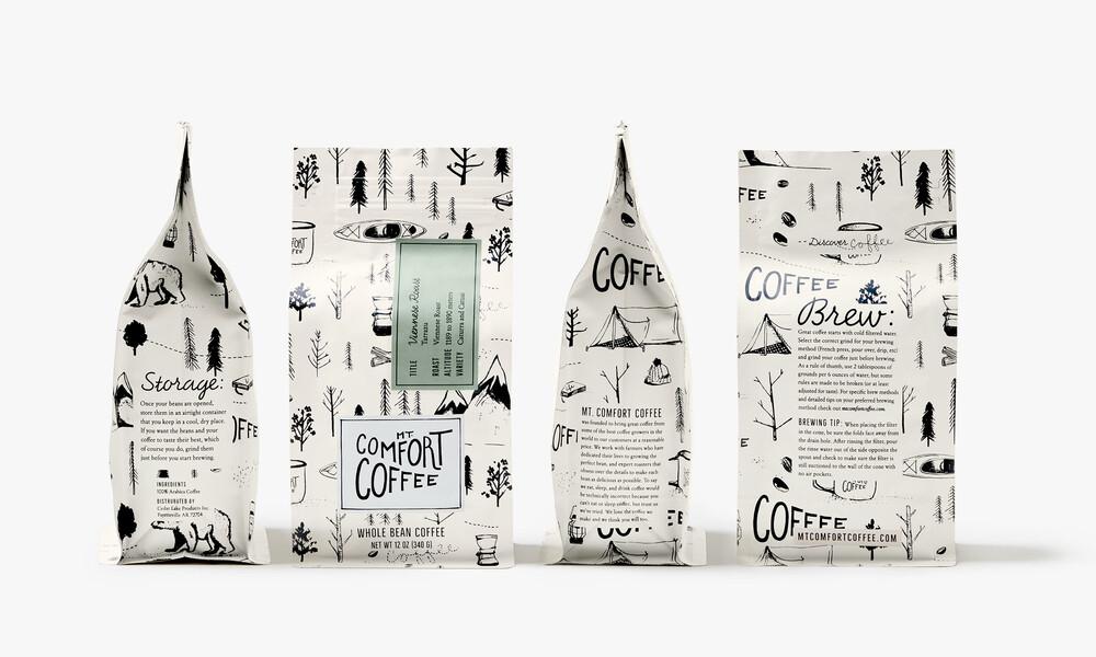 Mt comfort coffee branding packaging design7