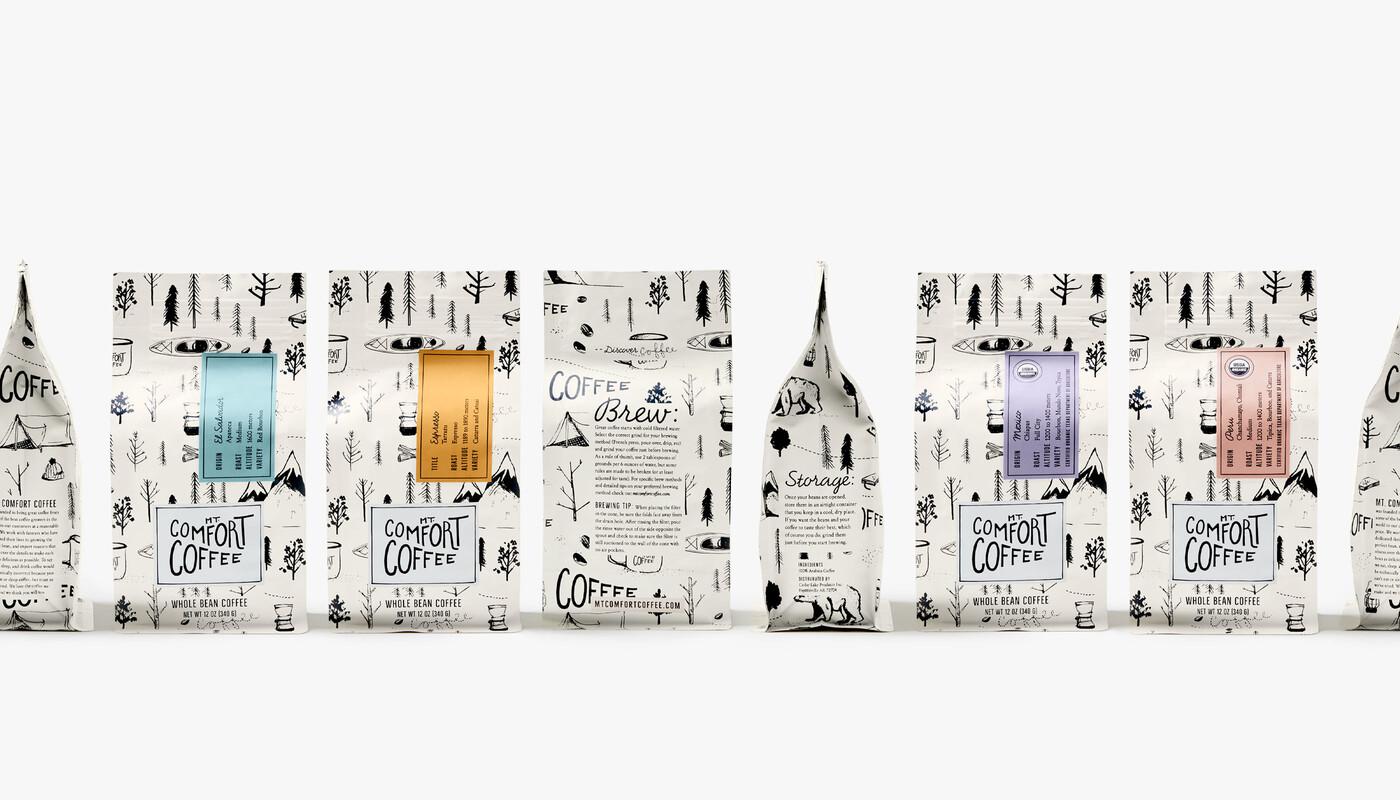 Mt comfort coffee branding packaging design13