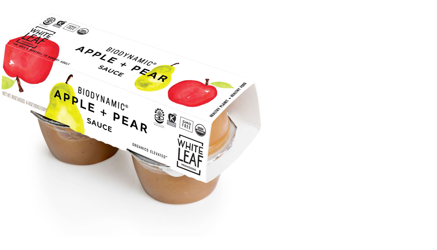 White leaf baby food packaging design brand identity1