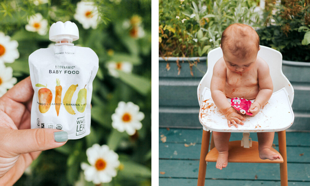 White leaf baby food packaging design brand identity6