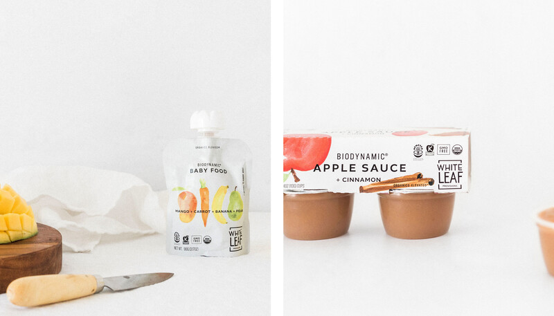 White leaf baby food packaging design brand identity4