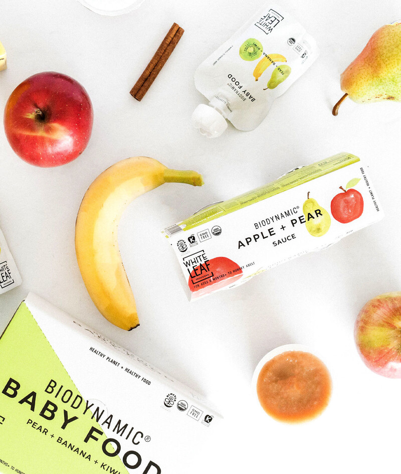 White leaf baby food packaging design brand identity13